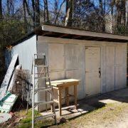 Dog pound's holding shed