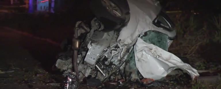 Man drags officer, flips car killing dog in fiery crash