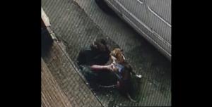 Video captures man beating his dog