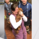 Dog rescued from pipe
