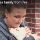 Dog saved family from fire