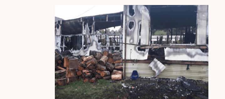 Fire destroys family's home