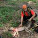 Hiker saved dog who was trapped in a cave