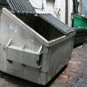 man threw dog into a dumpster