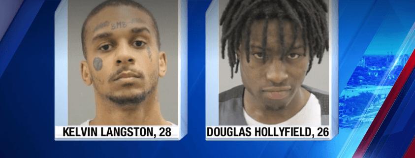Men took turns shooting at dog