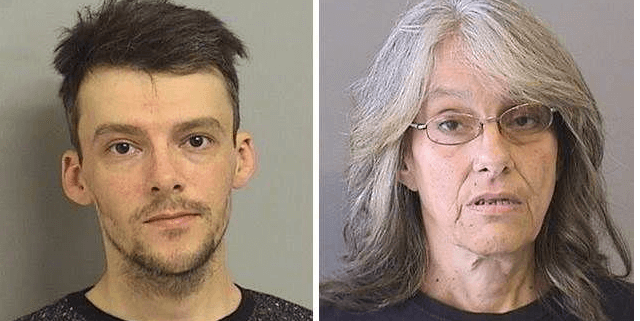 Mother and son charged after dog found frozen to the ground