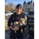 Police officer adopts neglected puppy