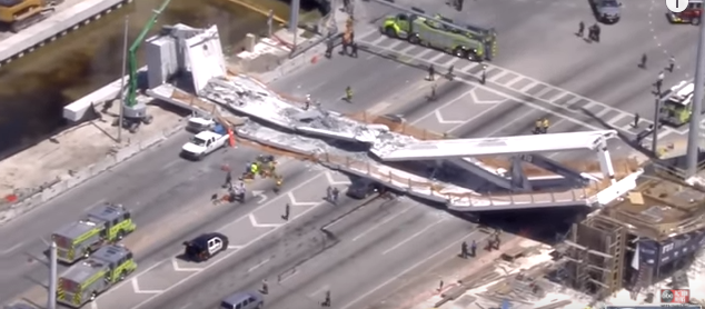 Pedestrian bridge collapsed