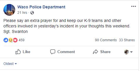 Police K9 shot