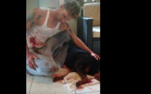 Senior dog shot by police