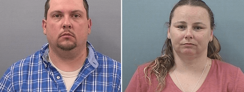 couple arrested after puppies found dying in the heat