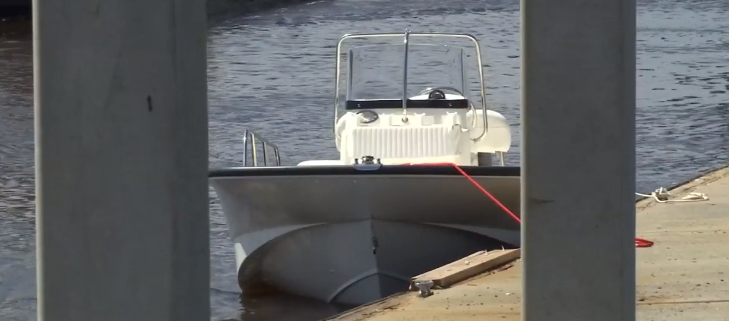 Man panicked when puppy jumped off of boat