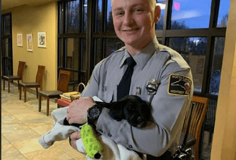 Trooper adopts puppy