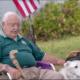 Veteran adopts elderly dog